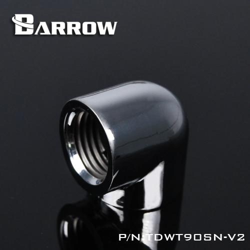 Barrow Double Internal G1 / 4 '' Thread 90 Degree Fitting Adapter Water Cooling Adapter Water Cooling Fitting TDWT90SN-V2