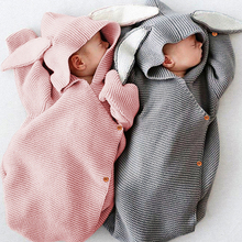 IYEAL Baby Blankets for Newborns Infant Knit Hooded Rabbit Ears Swaddling Wrap Photography Newborn Girl Boy Clothes