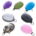 Multifunctional Grenade Shaped Car Keys Wallets PU Leather Hand Zipper Coin Purse Pouch Bag Keychain Holder Case Popular