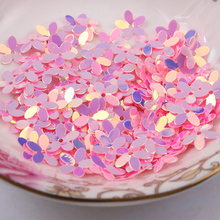 Fashion 500pcs 10mm six petals flower Lt Pink with golden sequins Jewelry Accessories cloth crafts confetti clothing