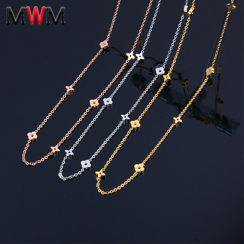 MWM stainless steel chain collar chocker long necklaces & pendants women's clothing accessories bijoux indian jewelry