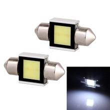 цена на Festoon Double pointed 31mm 2W 160lm COB LED White Light Car Auto Reading Lamp Dome Bulb - (12V / 2 PCS)