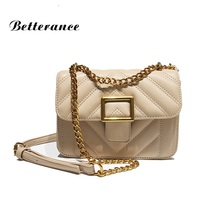 Betterance famous brand messenger bag women shoulder pu chain crossbody sweet Lady