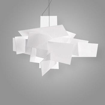 北欧ポストモダンアルミアクリルペンダントランプ LED キッチンダイニング & バーペンダントランプ寝室モールカフェぶら下げランプ装飾