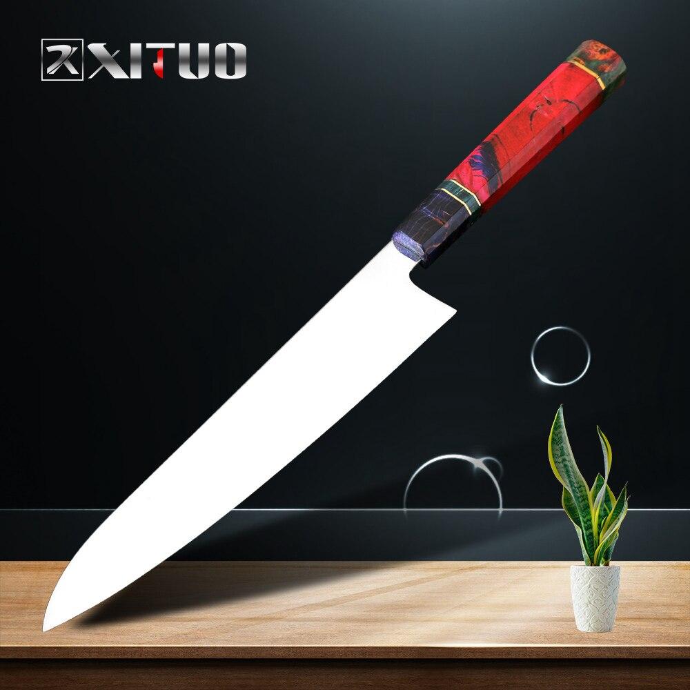XITUO หั่น Filleting Knife VG10 ใบมีดสแตนเลสสตีลสูงญี่ปุ่นห้องครัว Chef Nakiri มีดแข็งไม้-ใน มีดครัว จาก บ้านและสวน บน   1