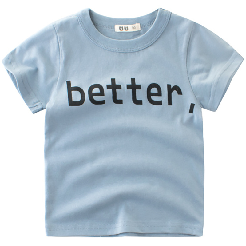 Letter Pattern Boys T Shirts Summer 2018 Girls Tops O-neck Cotton Short Sleeve T-shirts Toddler Tshirts Boys Tees Kids Clothes