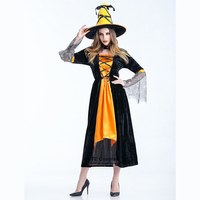 Ghost Bride Cosplay Costumes Women Witch Fancy Long Dress Dual Color Uniform For Halloween Party