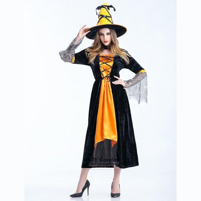 98181d5d5 Noiva fantasma Cosplay Trajes Mulheres Bruxa Fantasia Vestido Longo Dupla  Cor Uniforme para Festa de Halloween