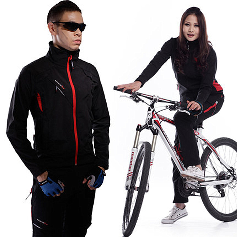 2017 New High-Grade Cycling Coat Windproof Bike Bicycle Clothing Men&Women Keep Warm Long Jersey Jacket Waterproof Tights Pants 2017 autumn cycling jacket sets waterproof windproof long sleeve bike riding coat jersey suits men women bicycle clothing warm