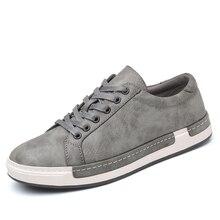 Zapatos náuticos de cuero para hombre, zapatos cómodos y planos para hombres de Estilo Vintage 2019 a la moda, calzado para hombres