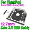Новый SATA 3.0 Sata 2-й ЖЕСТКИЙ ДИСК Caddy 12.7 мм SSD Корпус Optibay для IBM Lenovo Thinkpad R400 R500 T420 T430 T520