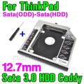 Brand New SATA 3.0 To Sata 2nd HDD Caddy 12.7mm SSD Case Enclosure Optibay for IBM Lenovo Thinkpad R400 R500 T420 T430 T520