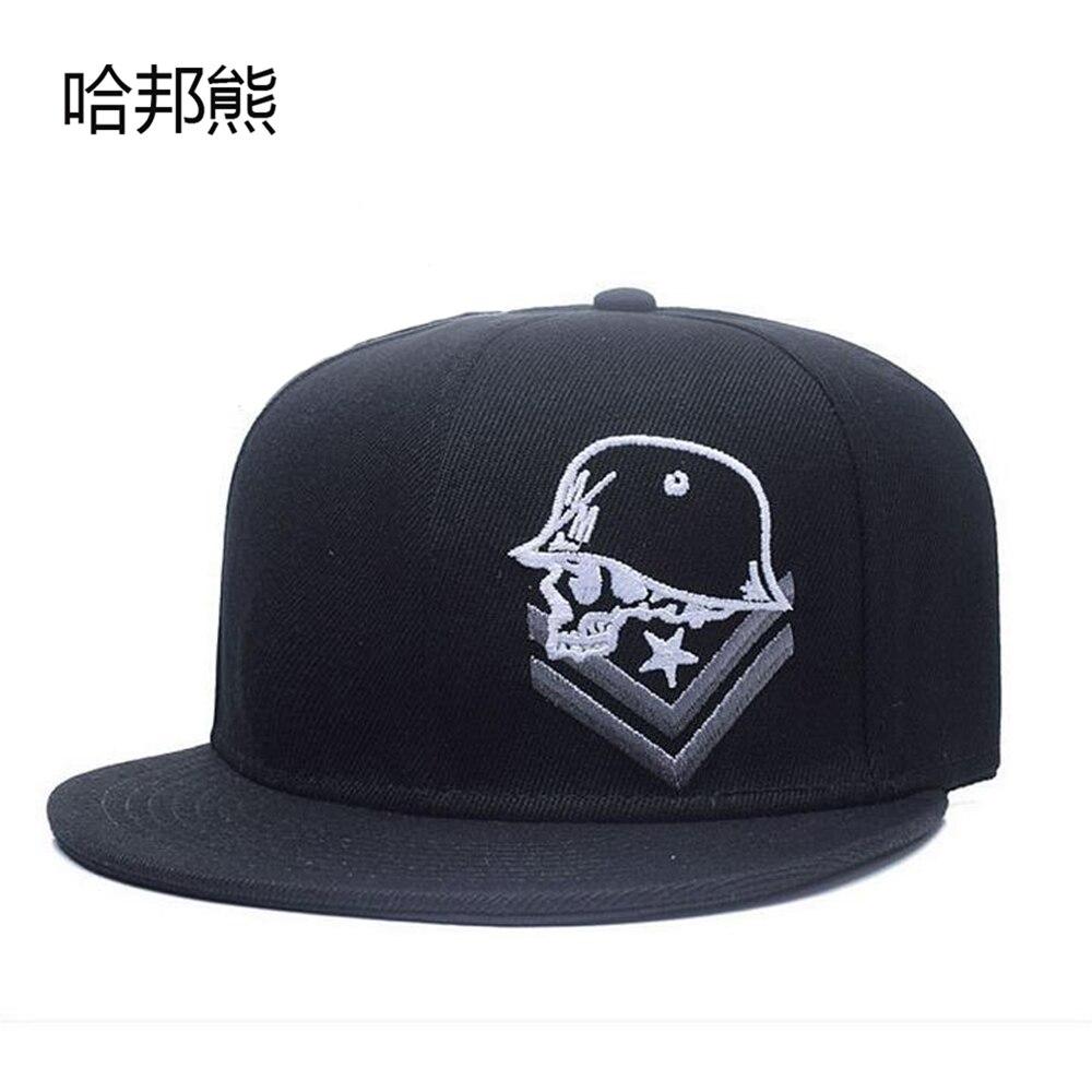 58690a4de386b 2017 New Solid Black Snapback Hip Hop Cap Gorras Planas Hip Hop Bones  Baseball Cap Men Hip-Hop High Quality Snapback