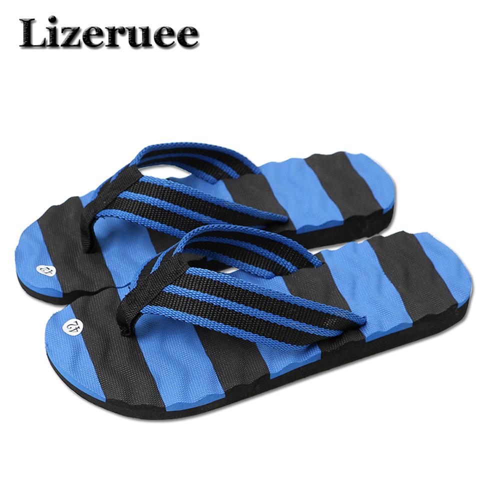 Summer Men Flip Flops Male Mixed Color Slippers Men Casual PVC EVA Shoes Summer Fashion Beach Sandals Size 40~44 HS011 стоимость