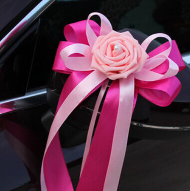 Wholesale 2015 Ribbon Wedding Car Flowers For Wedding Car