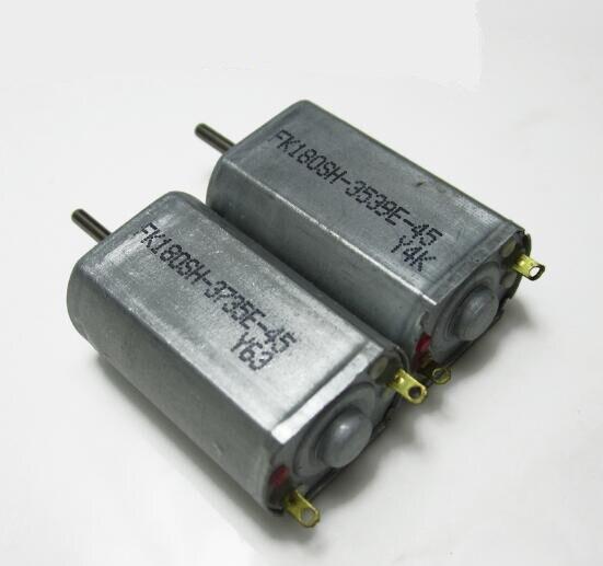 2 pcs 180 high speed micro DC motor metal carbon brush motor 3.7V DIY model airplane