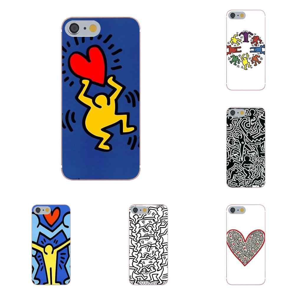 Tpwxnx TPU Cases Capa Keith Haring Art For Apple iPhone 4 4S 5 5C ...