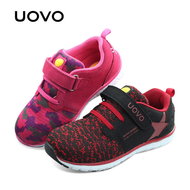 UOVO New Kids Shoes Girls Shoes Trainers Sneakers Portable Boys Shoes Tenis Infantil Children Shoes Kids Comfortable hobibear classic sport kids shoes girls school sneakers fashion active shoes for boys trainers all season 26 37