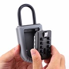 Key Lock Box 10-Digit Combination Hide Waterproof Key Lock Box Storage Lock Boxes Indoor Outdoor Security Padlock
