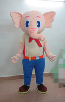 Real Pictures Super High Quality Deluxe Pink Elephant Mascot Costume Halloween