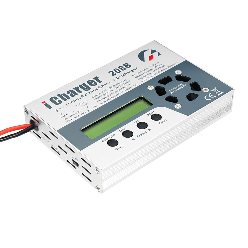 High Quality iCharger 208B 350W 20A 1-8S DC Lipo Battery Balance Charger For RC Models Battery Charging Spare Parts lipo battery charger silicone wire balance extension cable 2s 3pin 3s 4pin 4s 5pin 6s 7pin 8s 9pin 2 54xh 30cm for rc parts
