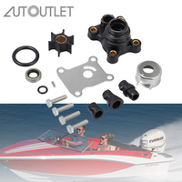 AUTOUTLET 9.9hp /15hp 2 Stroke / 4 Stroke Impeller Water Pump Repair Kit for Johnson/Evinrude 394711 0394711 SIERRA 18 3327