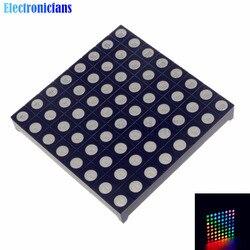 Полноцветный светодиодный мини-точечный матричный дисплей 8x8 8*8, красный, зеленый, синий, фотографический цифровой трубчатый экран для «сде...