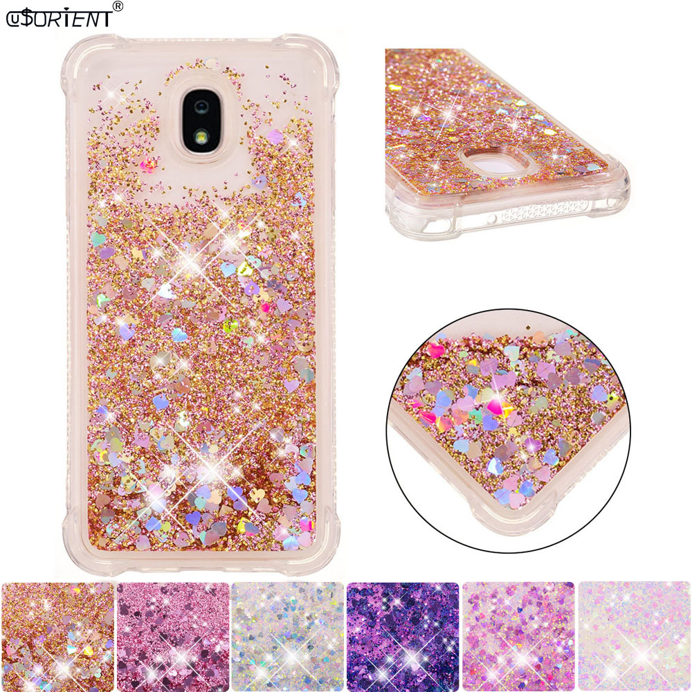 cheaper e09aa 6c82c US $4.3 8% OFF|Bling Glitter Case For Samsung Galaxy J7 Star V Refine 2018  Dynamic Liquid Quicksand Bumper Cover SM J737P Silicone Phone Case-in ...