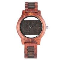 Hollow Wooden Watch Modern Men Women Bamboo Nature Full Wood Strap Quartz Wristwatch Handmade Creative Clock Gifts reloj hombre