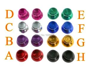 Image 2 - Aluminium Chrom Joystick Caps Ersatz Teile Thumbsticks Metall Joystick Kappe für Xbox One PS4 Controller 15 paare/los = 30 teile/los