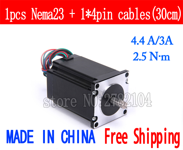 Free shipping 1pc Quality 57HB4401 4-lead Nema 23 Stepper Motor 57 motor 57BYGH 4.4A/3A 2.5N.m CNC Laser and 3D printerFree shipping 1pc Quality 57HB4401 4-lead Nema 23 Stepper Motor 57 motor 57BYGH 4.4A/3A 2.5N.m CNC Laser and 3D printer