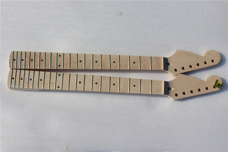 S-001 # 25.5 2 pcs    Electric guitar neck    fine quality   MAPLE  fingerboard 21  fret maple made one electric bass guitar neck high quality maple made with ebony fingerboard 21 fret