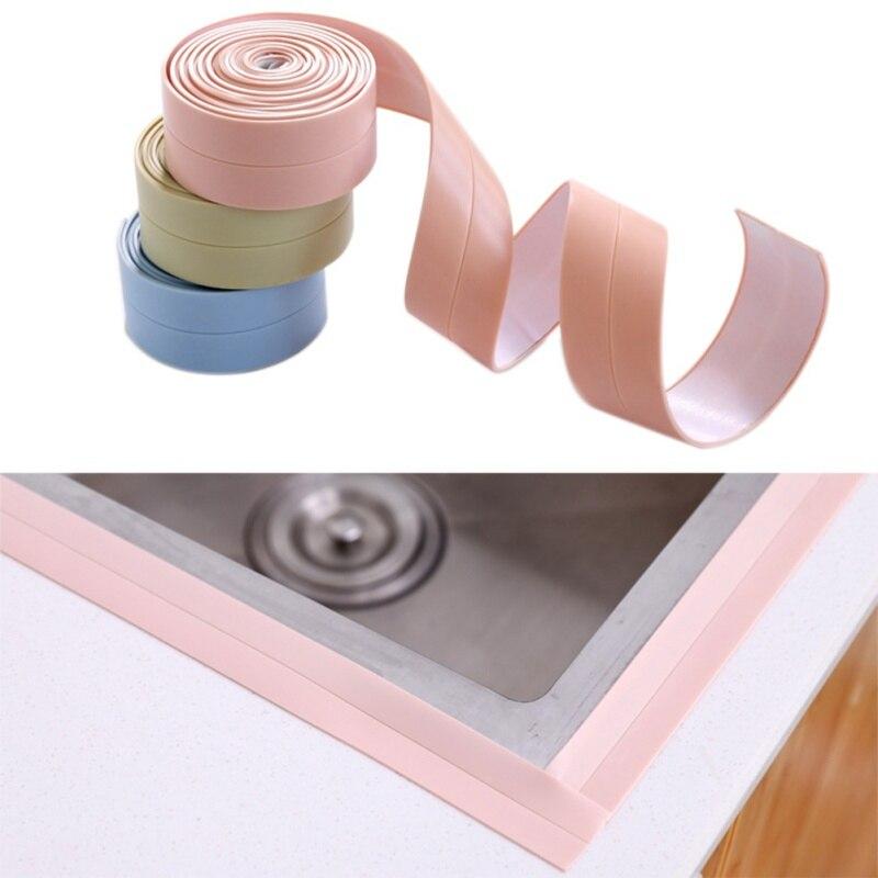 Waterproof Home Bathroom Bathtub Kitchen PVC Wall Art Sealing  Sealant Tape Mildew Resistant