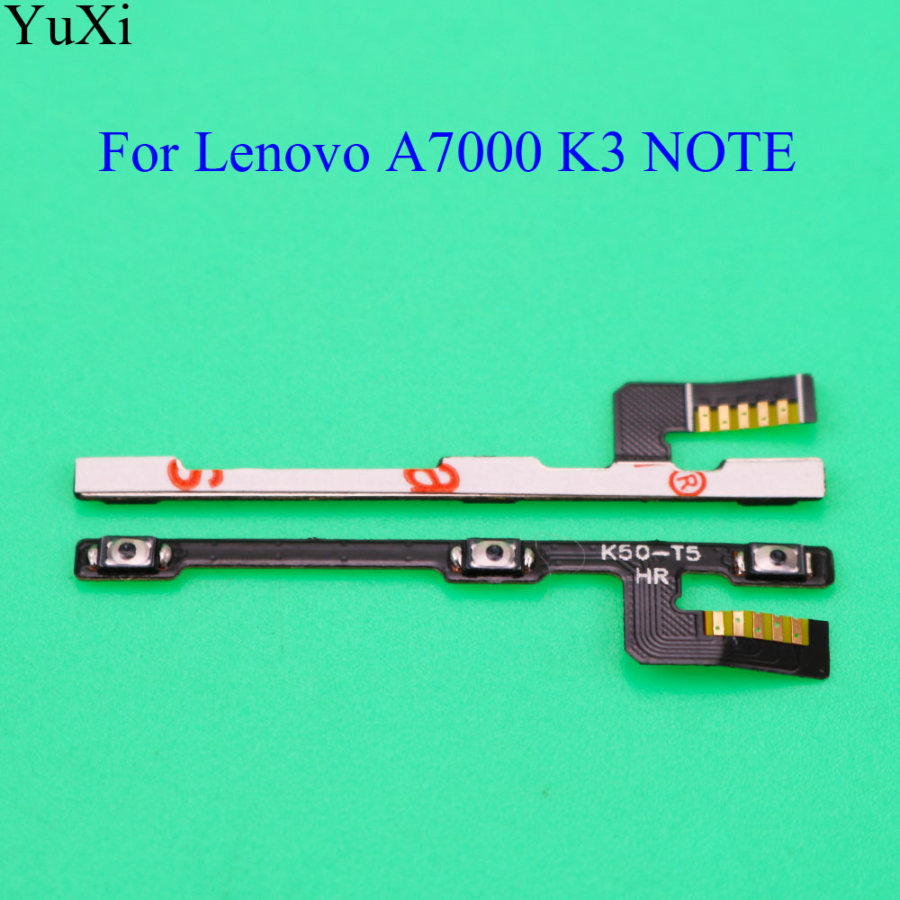 YuXi Replacement Power ON OFF <font><b>Volume</b></font> <font><b>Button</b></font> Switch Flex Cable For <font><b>Lenovo</b></font> <font><b>A7000</b></font> K3 NOTE K50 T5 K50-T image