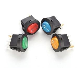 Image 2 - BỘ 5 12V 220V LED illuminuted đính đá công tắc 20A 12V nút ấn công tắc Xe nút đèn/TẮT Vòng đèn