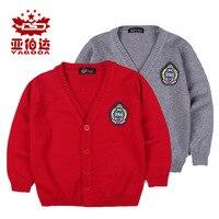 Dropshipping Szkoła Stylu Dzieci Sweter na Drutach Wzór Jesień Zima Dziewczyny Chłopcy Bawełniane Swetry na Drutach Sweter Znosić 16010EG