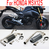 2018 NEW MSX 125 Motorcycle Exhaust Muffler Connect Pipe With DB Killer FOR HONDA MSX125 2012 2013 2014 2015 2012 2015 year