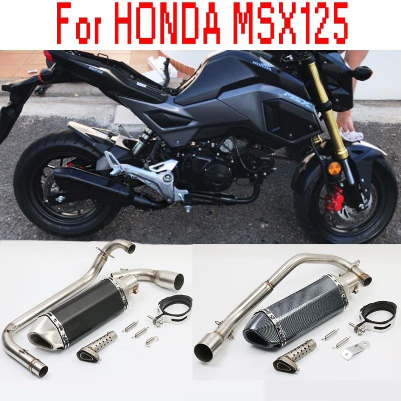 2018 NOVA MSX 125 Silenciador do Escape Da Motocicleta Tubos De Conexão Com DB Assassino PARA HONDA MSX125 2012 2013 2014 2015 2012-2015 ano