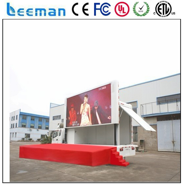 US $341 85 |Leemanled P6 outdoor P20 Advertising Truck Screen for Sale /  Truck Mobile Led Display/Truck led display-in LED Displays from Electronic