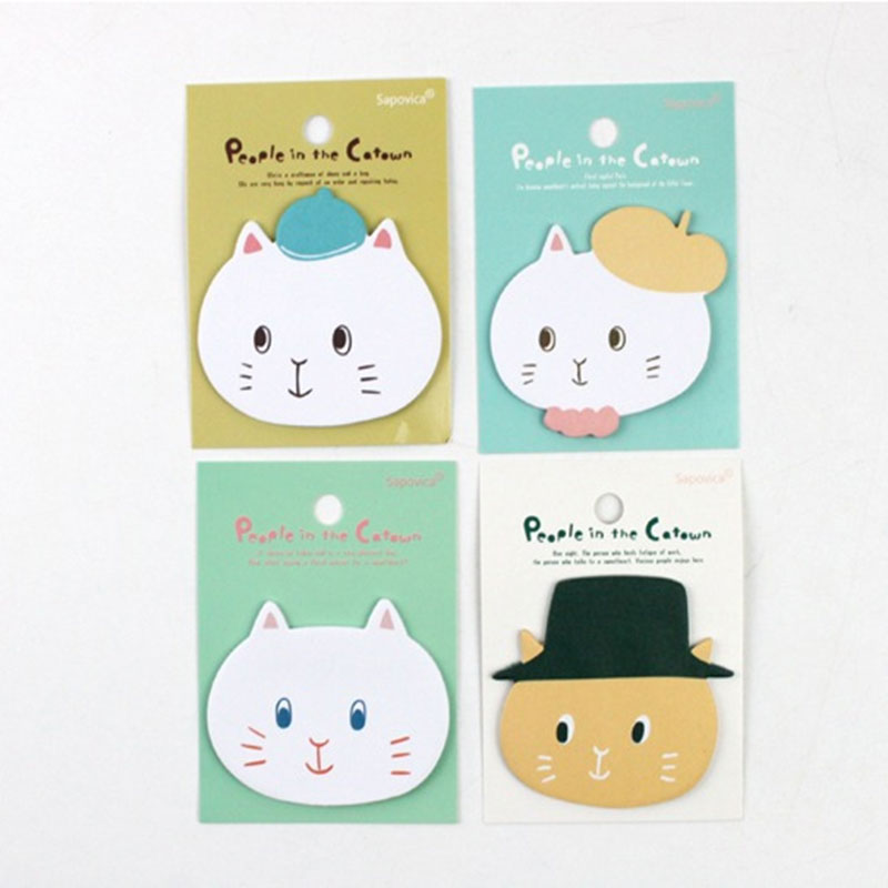 4pcs/ lot Angola cat sticky note Post Memo Pad Kawaii School Supplies Planner Stickers Paper Bookmarks Korean Stationery