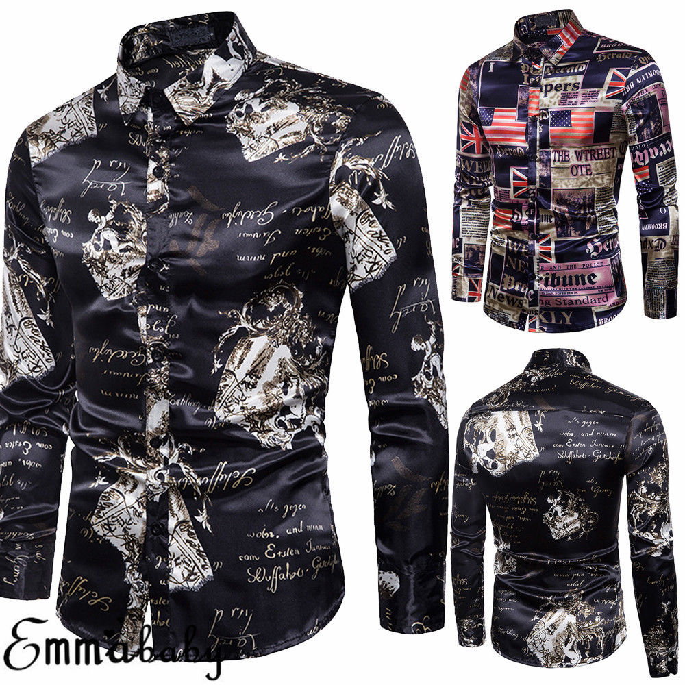 Men Shirt Luxury Brand Long Casual Shirt  1