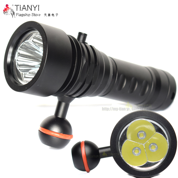 CREE L2 LED White light Torch Underwater Video Diving Led Flashlight lamps Professional 3X L2 TORCH Diving flashlight professional torch
