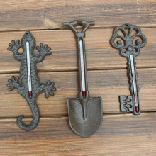 Rustic Country Cast Iron wall thermometer wall decoration wall thermograph handicrafts of outdoor garden