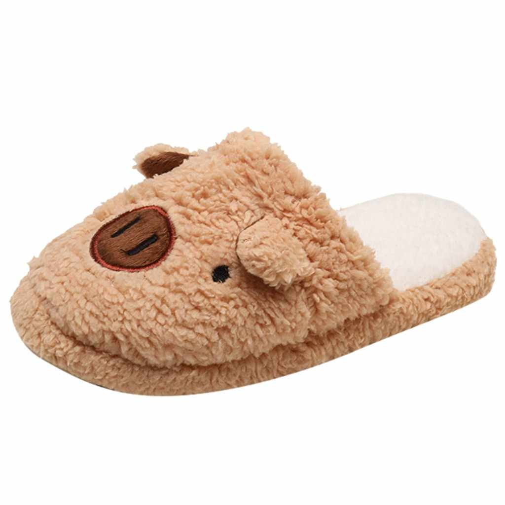 Cute Pig Shape Soft Tape Slippers Lovely Women Flip Flop Shoes Cotton Indoor Slippers Plush Slip Women Shoes zapatos de mujer