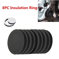 Black Foam Rings 8Pcs Car Door Speaker Bass Enhancer Soundproof Fashion High Quality Durable Practical Popular