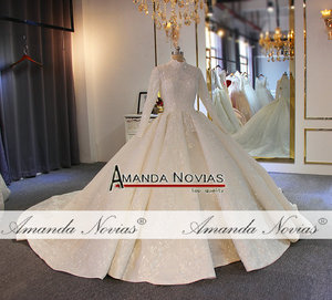 Image 3 - 2020 Muslim wedding dress with long sleeves full lining bridal dress