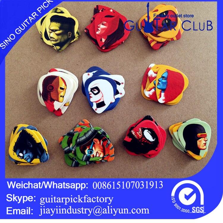 Free shipping Marvel comic custom guitar picks plectrums 120pcs guitar pick