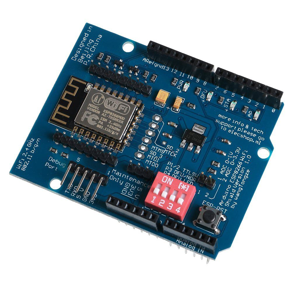 ESP-12E ESP8266 UART WIFI Wireless Shield Development Board For Arduino UNO R3
