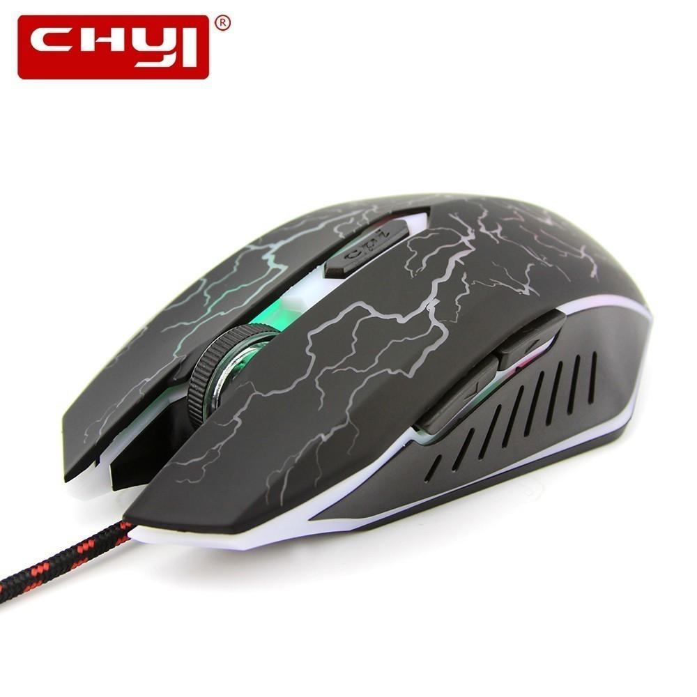 CHYI Bloody Gaming Mouse Ergonomic Optical Computer Gamer Mause 6 Button 3d Usb Wired RGB Backlight PC Mice For Overwatch Laptop image
