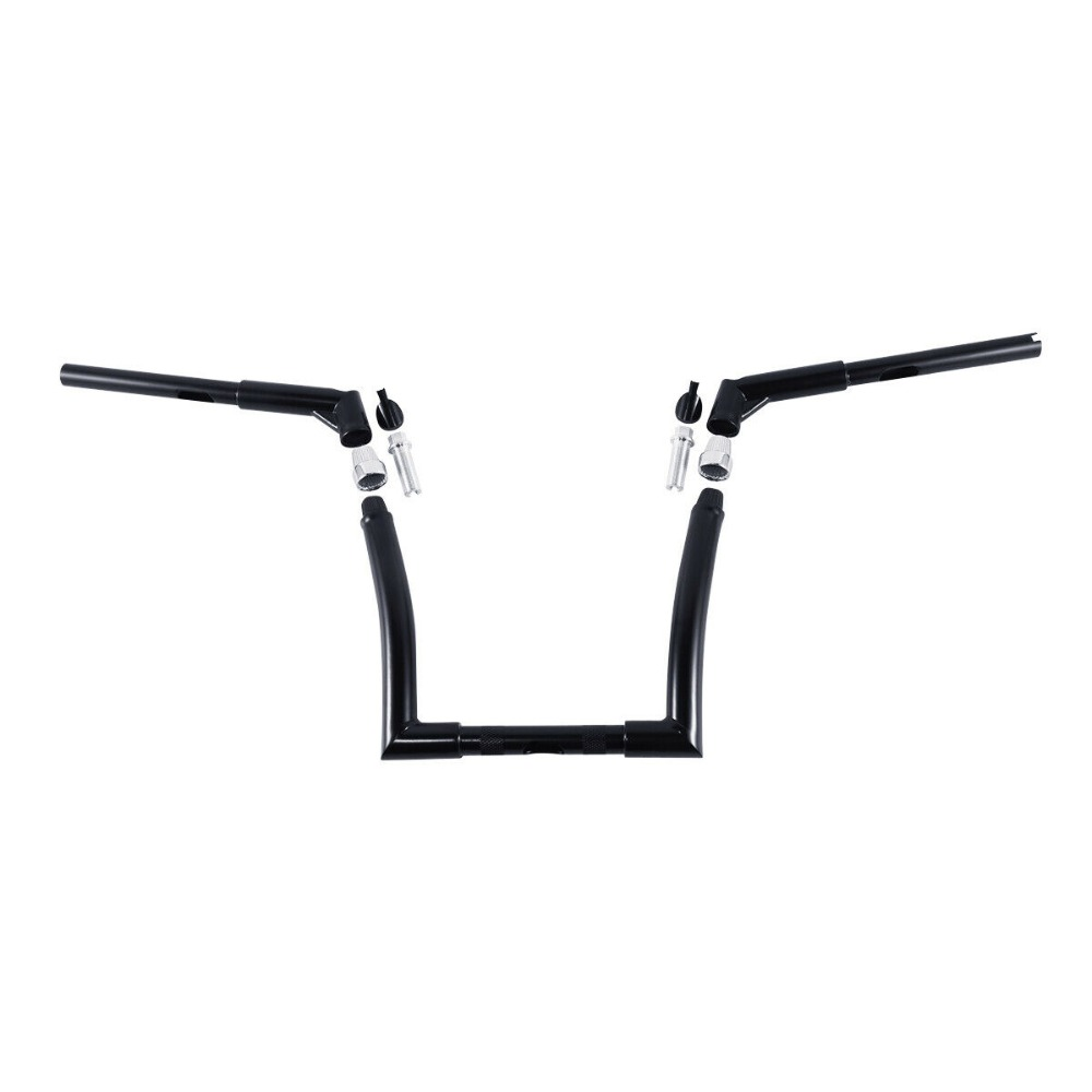 TCMT Black 14 Rise Ape Hanger Bar 1-1//4 Fat Handlebar Fits For Harley Dressers Baggers Touring